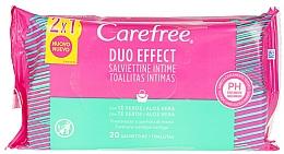 Parfums et Produits cosmétiques Lingettes humides à l'aloe vera pour hygiène intime - Carefree Intimate Aloe Vera Wet Wipes