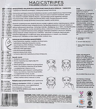 Masque hydrogel intense à l'acide hyaluronique - Magicstripes Hyaluronic Intensive Treatment Mask — Photo N2