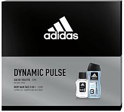 Parfums et Produits cosmétiques Adidas Dynamic Pulse - Set (eau de toilette/50ml + gel douche pour cheveux et visage/250ml)