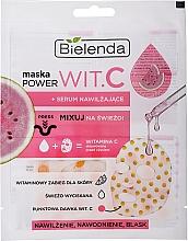 Parfums et Produits cosmétiques Masque en tissu sec à la pastèque et sérum pour visage - Bielenda Power Wit C Face Mask