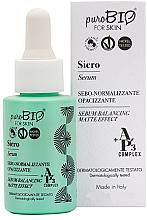 Sérum matifiant séborégulateur à l'extrait de raisin pour visage - PuroBio Cosmetics Serum-Balancing Matte Effect — Photo N1