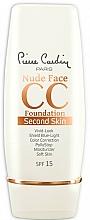 Parfums et Produits cosmétiques CC crème pour visage - Pierre Cardin Nude Face CC Foundation Second Skin SPF 15