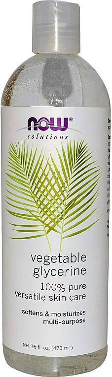 Glycérine végétale, liquide, multi-usages - Now Foods Solution Vegetable Glycerine