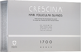 Parfums et Produits cosmétiques Traitement anti-chute, 20 ampoules - Crescina Hair Follicular Island Re-Growth+Anti-Hair Loss 1700 Woman