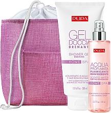 Parfums et Produits cosmétiques Coffret cadeau - Pupa Home Spa Purifying Reinvigorating Bladderwrack Extract (sh/gel/300ml + scented/water/150ml + bag/1pcs)