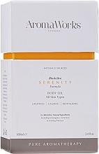 Parfums et Produits cosmétiques Huile pour corps, Citronnelle et Géranium - AromaWorks Serenity Body Oil