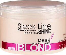 Parfums et Produits cosmétiques Masque aux protéines de soie pour cheveux blonds, décolorés et rouges - Stapiz Sleek Line Blush Blond Mask