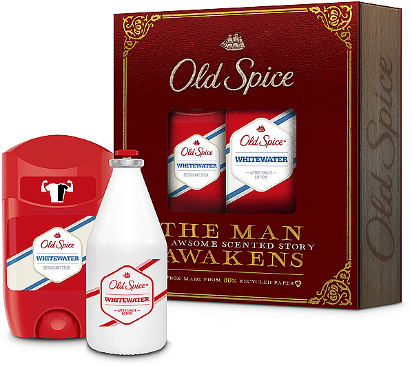 Old Spice Whitewater Vintage - Set (déodorant stick/50ml + lotion après-rasage/100ml) — Photo N1