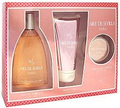 Parfums et Produits cosmétiques Instituto Espanol Aire de Sevilla Bella - Set ( eau de toilette/150ml + lait corps/150ml + crème mains/50ml)
