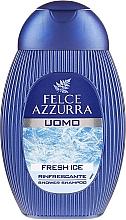 Parfums et Produits cosmétiques Shampooing et gel douche au panthénol et menthol - Felce Azzurra Fresh Ice