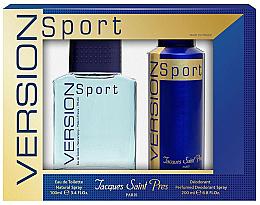 Parfums et Produits cosmétiques Ulric de Varens Jacques Saint Pres Version Sport - Set (eau de toilette/100ml + déodorant spray/200ml)