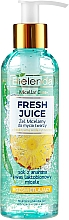 Parfums et Produits cosmétiques Bielenda Fresh Juice Micellar Gel Pineapple - Solution micellaire éclaircissante au jus d'ananas pour visage