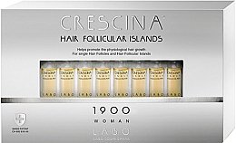 Parfums et Produits cosmétiques Traitement stimulant en ampoules au glycogène et lupin blanc pour cheveux - Crescina Hair Follicular Island 1900 Woman
