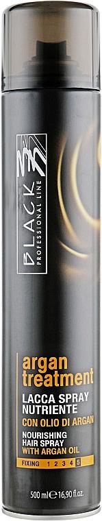Laque à l'huile d'argan pour cheveux - Black Professional Line Argan Treatment Nourishing Hairspray