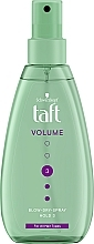 Parfums et Produits cosmétiques Spray volumisant thermo-protecteur, fixation forte - Schwarzkopf Taft Volumen Föhn-Spray