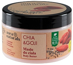 Parfums et Produits cosmétiques Beurre pour corps, Chia et Baies de goji - Aura Naturals Chia & Goji Body Butter