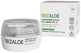 Parfums et Produits cosmétiques Crème à l'aloe vera pour visage - Ibizaloe Moisturizing Cream SPF15 For Oily Skin