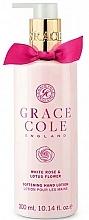 Parfums et Produits cosmétiques Lotion nourrissante pour mains, Rose blanche et Lotus - Grace Cole White Rose & Lotus Flower Hand Lotion