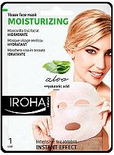 Parfums et Produits cosmétiques Masque tissu à l'aloe vera et acide hyaluronique pour visage - Iroha Nature Moisturizing Aloe Tissue Face Mask