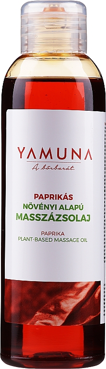 Huile de massage à l'extrait de piment - Yamuna Paprika Plant Based Massage Oil