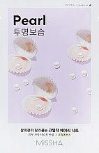 Parfums et Produits cosmétiques Masque en tissu illuminateur et hydratant à l'extrait de perle - Missha Airy Fit Pearl Sheet Mask