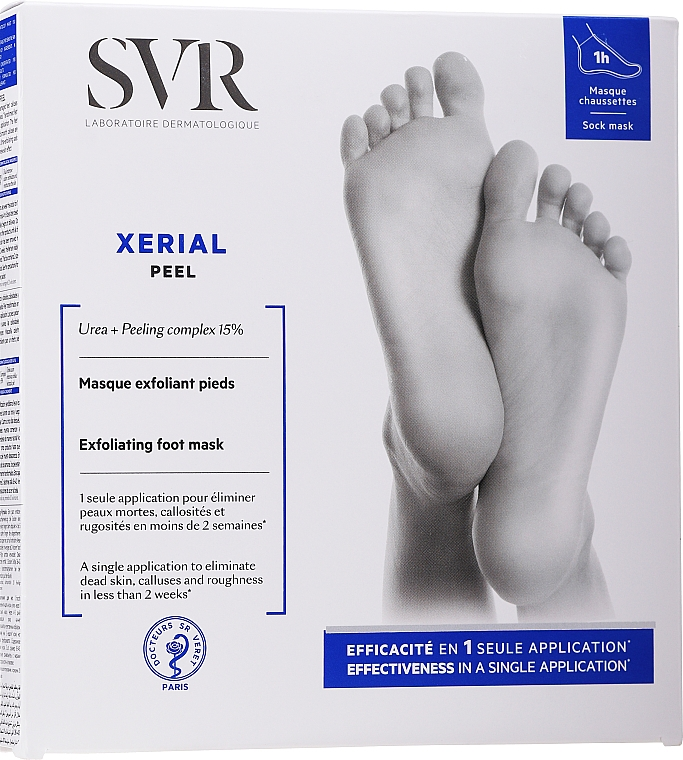 Masque exfoliant pour pieds - SVR Xerial Peel Exfoliating Foot Mask