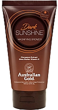 Parfums et Produits cosmétiques Lotion bronzante au beurre de karité et extrait de cannelle pour corps - Austraian Gold Sunscreen Dark Magnifying Bronzer Professional Lotion
