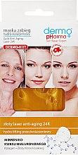 Parfums et Produits cosmétiques Masque-traitement au hydrocollagène et or 24K pour visage - Dermo Pharma Gold Anti-Aging Laser 24K