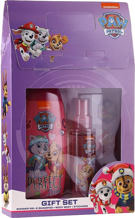 Uroda Polska Paw Patrol - Set (gel douche et shampooing/250ml + brume corporelle/110ml + autocollants)