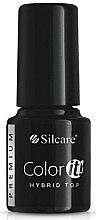 Parfums et Produits cosmétiques Top coat pour vernis semi-permanent - Silcare Color IT Premium Hybrid Top Coat Gel