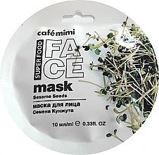 Parfums et Produits cosmétiques Masque aux graines de sésame pour visage - Cafe Mimi Face Mask