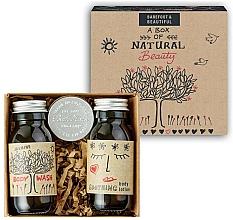 Parfums et Produits cosmétiques Bath House A Box Of Natural Beauty - Coffret cadeau (gel douche/60ml + lotion corps/60ml + baume à lèvres/15g)