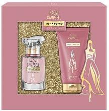 Parfums et Produits cosmétiques Naomi Campbell Pret a Porter Silk Collection - Set (eau de toilette/15ml + lotion parfumée pour corps/50ml)