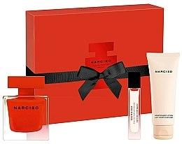 Parfums et Produits cosmétiques Narciso Rodriguez Narciso Rouge - Coffret (eau de parfum/90ml + lait corps parfumé/75ml + eau de parfum/10ml)