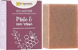 """Parfums et Produits cosmétiques Savon naturel """"Myrte et au raisin rouge"""", régénérant et antioxydant - La Saponaria Bio Sapone"""