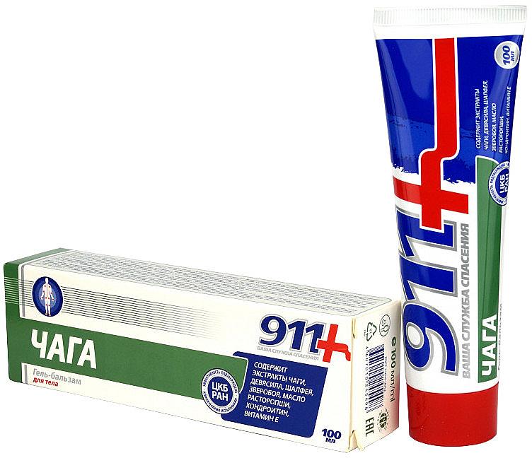 Gel-baume à l'extrait de chaga pour corps - 911