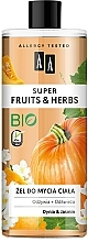 Gel douche Citrouille et jasmin - AA Super Fruits & Herbs — Photo N1