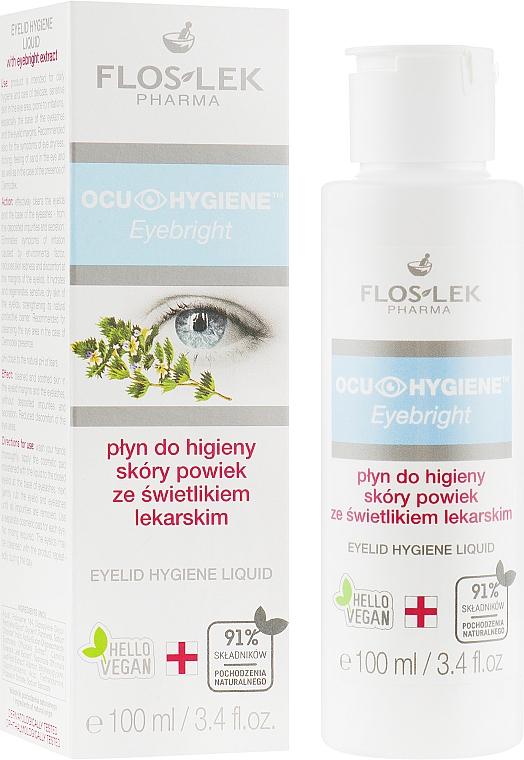 Fluide hygiénique à l'extrait d'herbes pour paupières - Floslek Eyebright Eyelid Hygiene Liquid