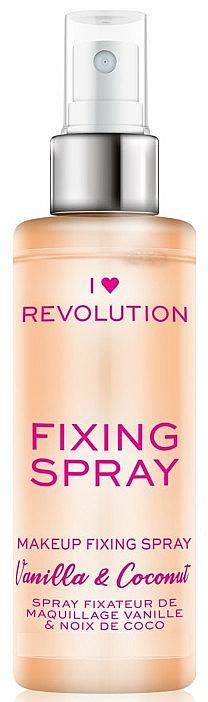 Spray fixateur de maquillage - I Heart Revolution Fixing Spray Vanilla & Coconut