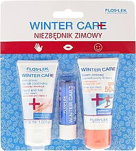 Parfums et Produits cosmétiques Floslek Winter Care - Set soin d'hiver(crème visage SPF 50+/30ml + crème mains/30ml + baume à lèvres)
