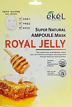 Parfums et Produits cosmétiques Masque tissu à la gelée royale pour visage - Ekel Super Natural Ampoule Royal Jelly