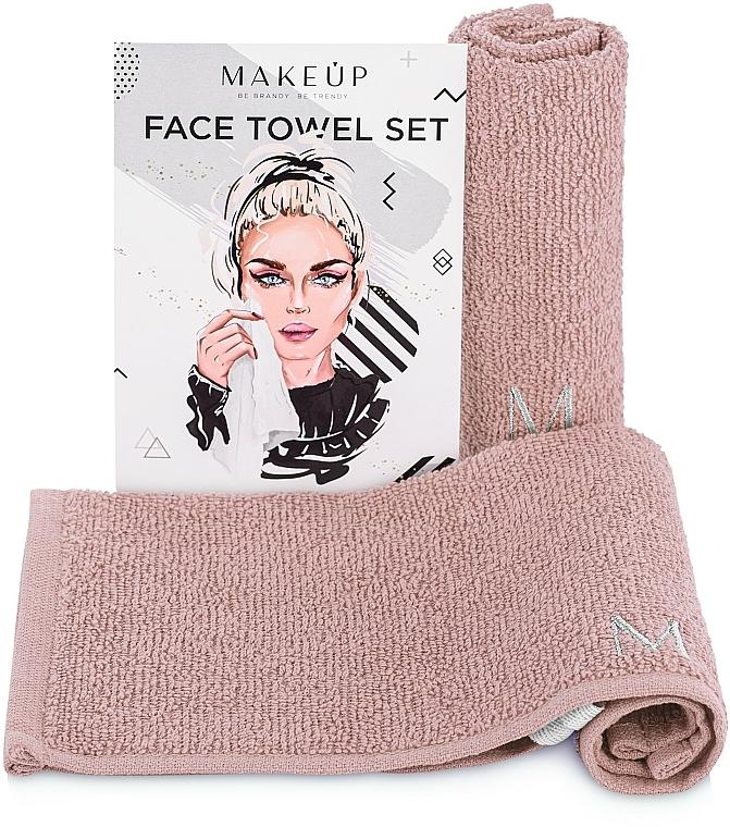 Lot de serviettes pour visage, MakeTravel, beige - Makeup Face Towel Set