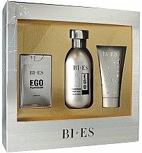 Parfums et Produits cosmétiques Bi-Es Ego Platinum - Coffret (eu de toilette 100ml + eau de parfum 15ml + gel douche 50ml)