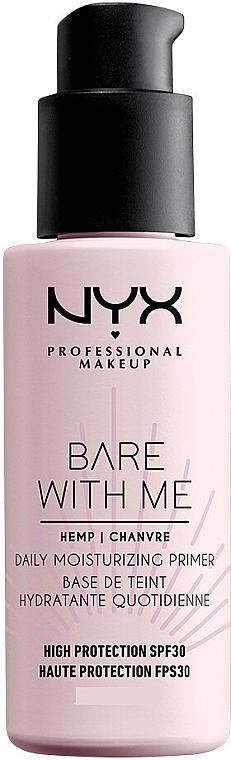 NYX Professional Makeup Bare With Me Hemp Deily Moisturizing Primer - Base de teint à l'huile de chanvre SPF30  — Photo N1