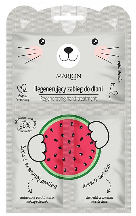 Masque-gants à la pastèque pour les mains - Marion Funny Animals Regenerating Hand Treatment