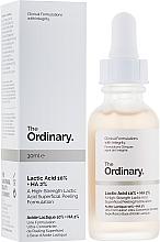 Parfums et Produits cosmétiques Peeling à l'acide lactique pour visage - The Ordinary Lactic Acid 10% + HA 2%