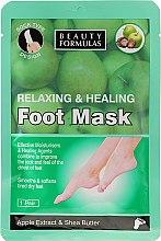 Parfums et Produits cosmétiques Masque à l'extrait de pomme et beurre de karité pour pieds - Beauty Formulas Relaxing And Healing Foot Mask