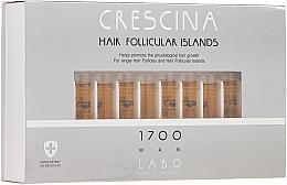Parfums et Produits cosmétiques Traitement en ampoules au glycogène pour cheveux 1700 - Crescina Hair Follicular Islands Re-Growth 1700