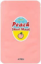 Parfums et Produits cosmétiques Masque tissu pour visage Yaourt et pêche - A'Pieu Peach & Yogurt Sheet Mask