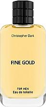 Parfums et Produits cosmétiques Christopher Dark Fine Gold - Eau de Toilette